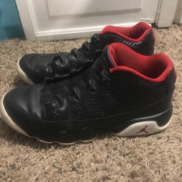 best website 3d305 7dc0d Boy's Black/Red Jordan Retro 9 Shoes 5.5y